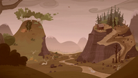 Grub and Piles settle near the top of the mountains S5E23