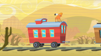Little Strongheart On Top of Caboose S1E21