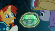 Maud Pie's reflection in the unearthed jewel S7E24