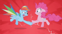 Pinkie Pie and Rainbow Dash Shock S1E5