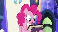 Pinkie Pie picks up the friendship journal S7E14