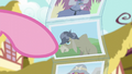 Pinkie points at photo of Cranky Doodle S6E11.png
