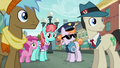 Police Pony and ponies staring at Pinkie S6E3.png
