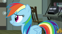 "Rainbow Dash ""find out what's going on"" S7E18"