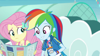 Rainbow Dash looks at the park map EGROF