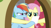 Rainbow Dash showing photo to Fluttershy S2E21