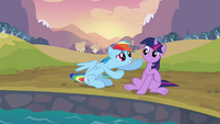Rainbow Dash telling Twilight S2E22