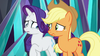 Rarity's eyes welling up with tears S9E2