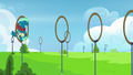 Sky Stinger bumps his head on obstacle ring S6E24.png