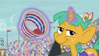 Snails levitating a buckball basket S9E6