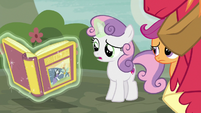 Sweetie Belle unsure why the plan didn't work S7E8