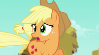 AJ --Rarity's gonna read a review of her new boutique-- S6E9