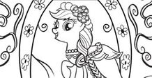 Applejack color-in image