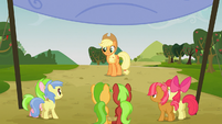 Applejack starts the race S03E08