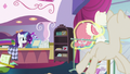Dress is placed on a pony mannequin S7E6.png
