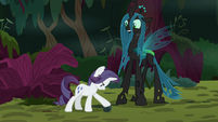 Fake Rarity taking possession of a rock S8E13