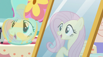 "Fluttershy's reflection ""thanks for asking!"" S7E12"