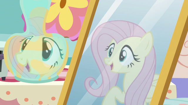 """File:Fluttershy's reflection """"thanks for asking!"""" S7E12.png"""