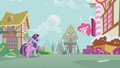 Pinkie urging Twilight and Spike to hurry S1E09.png