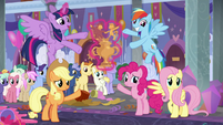Ponies present Amity Ball Award for Friendship S9E7