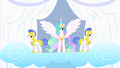 Princess Celestia and her guards S1E16.png