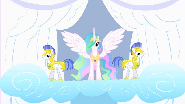 File:Princess Celestia and her guards S1E16.png
