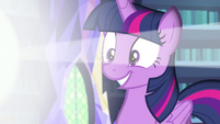 Princess Twilight smiling with excitement EGFF