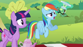 "Rainbow ""I doubt she'll notice what anypony's wearing"" S4E18.png"