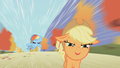 Rainbow Dash catching up to Applejack S1E13.png