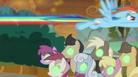Rainbow Dash flies over Sombrafied ponies S9E2