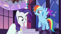 Rarity's dress got spilled onto S5E15
