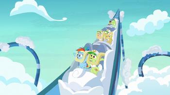S08E05 Rainbow Dash i babcie jadą kolejką górską