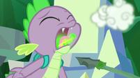Spike breathes fire S5E26