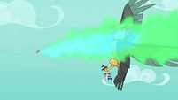Spike breathing fire on the roc S8E11