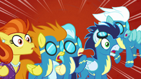 The Wonderbolts and Stormy Flare shocked S5E15