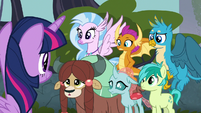 Young Six listening to Twilight Sparkle S8E2