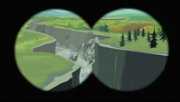Avalanche seen through binocular S2E07