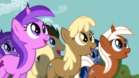 Background ponies watching and waiting S2E15
