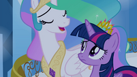 "Celestia singing ""with every new choice you make"" S4E25"
