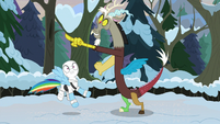 Discord pointing at a winterchilla MLPBGE