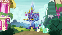 Exterior shot of the Castle of Friendship S7E25