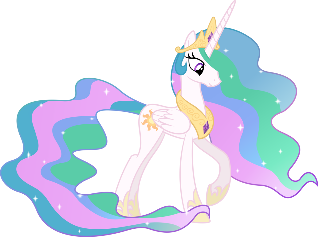 FANMADE Princess Celestia Looking Down