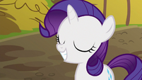 Filly Rarity grinning wide S6E14