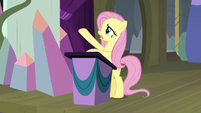"Fluttershy ""covered in darkness"" S8E7"