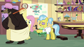 Fluttershy sees grizzly bear in a bath towel S7E5.png