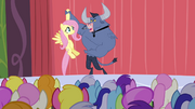 Iron Will holding Fluttershy S2E19