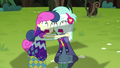 Lyra and Sweetie Drops screaming in fear EG4.png