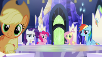 Main ponies looking at Twilight S5E22
