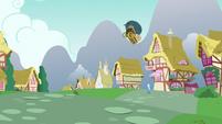 Nut cart goes flying toward Trixie S7E2