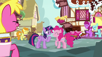 Pinkie Pie's fans laughing again S7E14